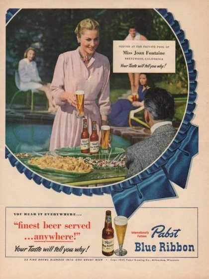 Joan Fontaine for Pabst Blue Ribbon Beer A (1949)