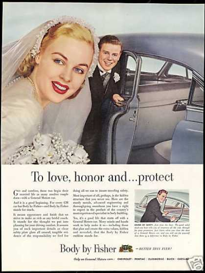 Marriage Bride Groom Photo Body By Fisher Car (1950)