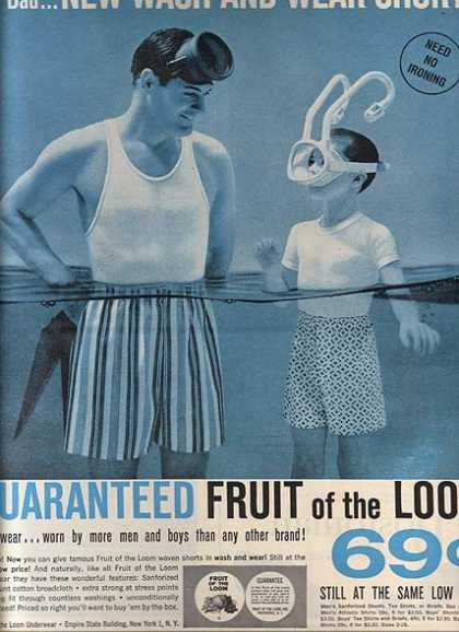 Fruit of the Loom's Wash and Wear Shorts (1959)