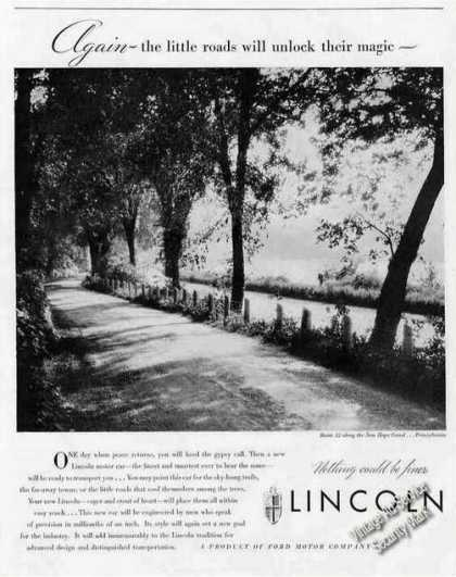 Route 32 Along New Hope Canal Pa Photo Lincoln (1944)