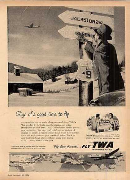 """Twa Ad """"Sign of a Good Time... (1954)"""