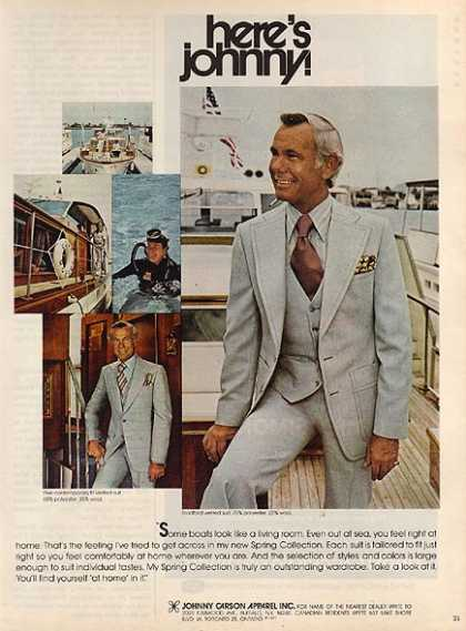 Johnny Carson Apparel's Spring Collection of Clothes (1977)
