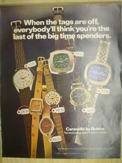 Bulova Watches. Caravelle Watches (1972)