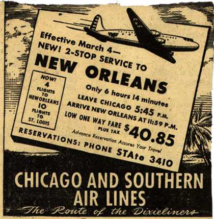Chicago and Southern Air Line's New Orleans – New Orleans (1946)