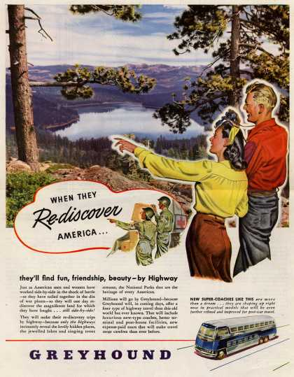 Greyhound – When They Re-discover America... (1945)