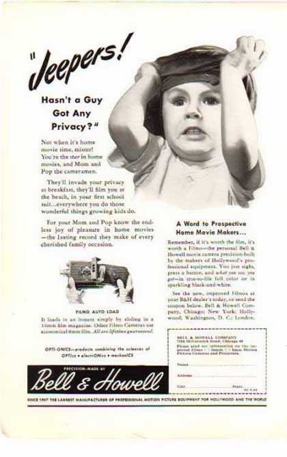 Bell & Howell Filmo – Auto Load Camera – JEEPERS (1946)
