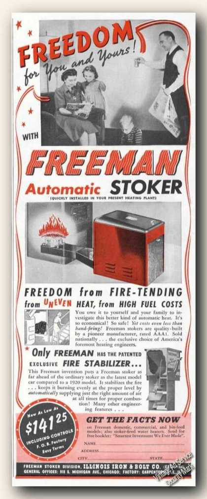 Freeman Automatic Stoker for Your Furnace (1941)