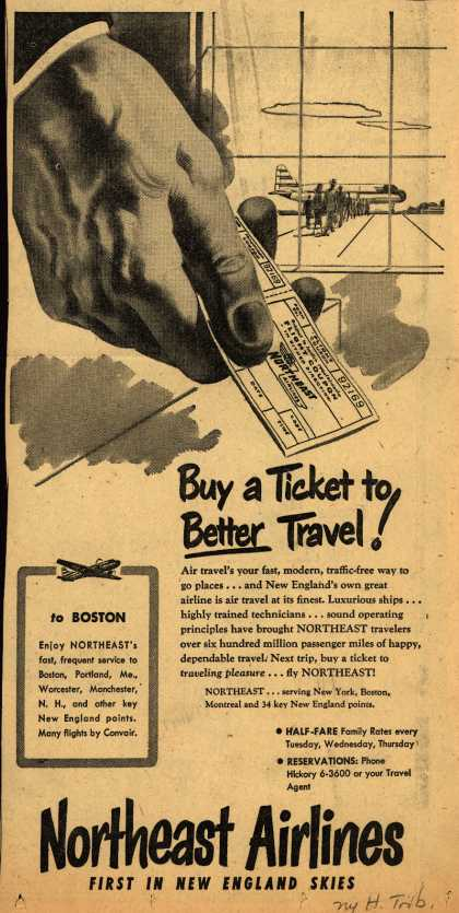Northeast Airline's Service – Buy a Ticket to Better Travel (1952)
