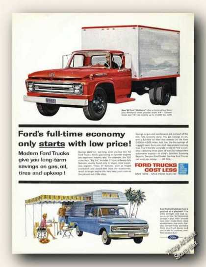 Ford Trucks Cost Less Nice Color (1962)