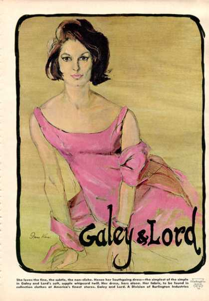 Galey & Lord Southgoing Fashion Dress (1964)