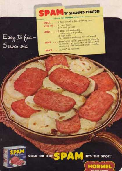 SPAM and Scalloped Potatoes Hormel (1949)
