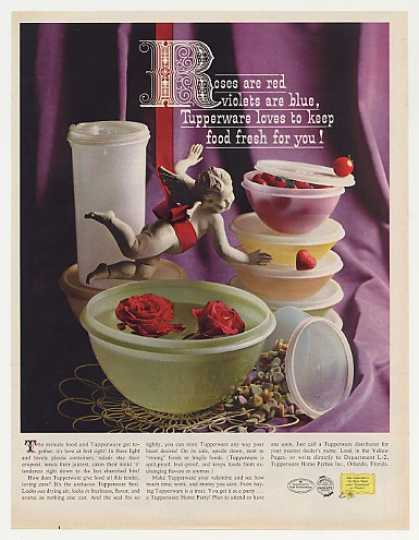 Tupperware Plastic Containers Roses are Red (1961)