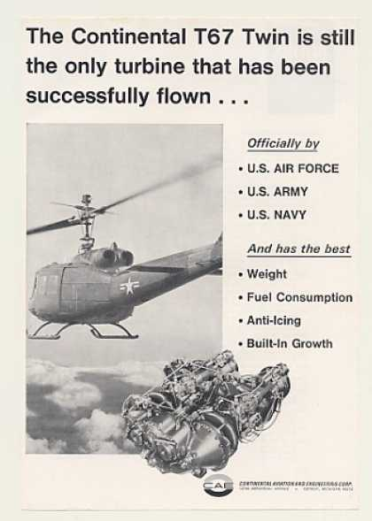 US Army Helicopter Continental T67 Twin Turbine (1968)