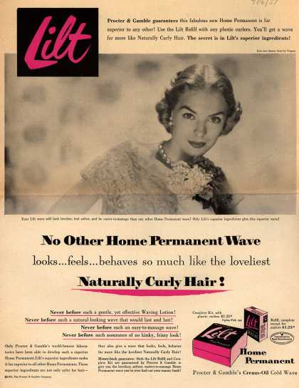 Procter & Gamble Co.'s Lilt Permanent Wave – No Other Home Permanent Wave looks... feels... behaves so much like the loveliest Naturally Curly Hair (1951)
