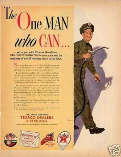 """Texaco Ad """"The One Man Who Can... (1953)"""