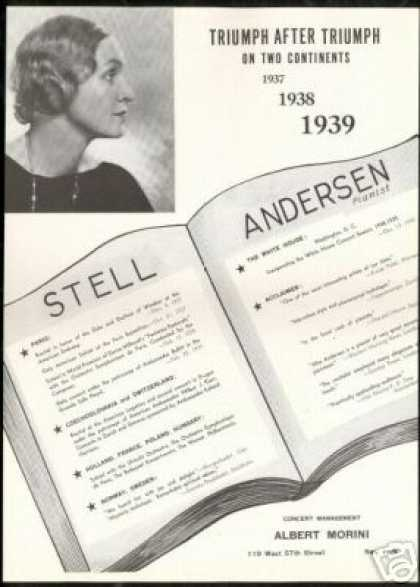 Stell Anderson Vintage Photo Pianist Reviews (1939)