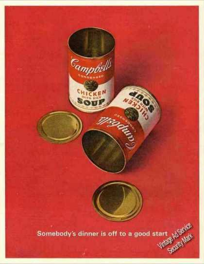 """Campbell's Soup """"Off To a Good Start"""" (1963)"""