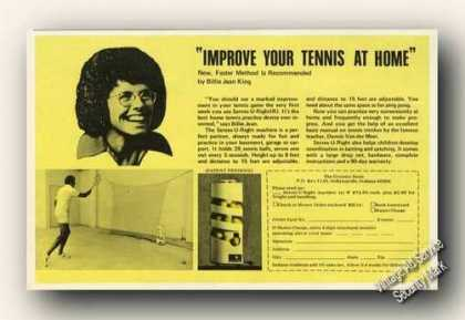 Improve Your Tennis at Home Billy Jean King (1976)