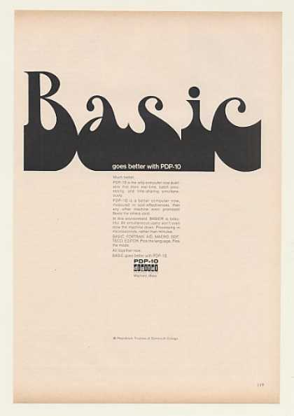 Basic Goes Better with Digital PDP-10 Computer (1968)