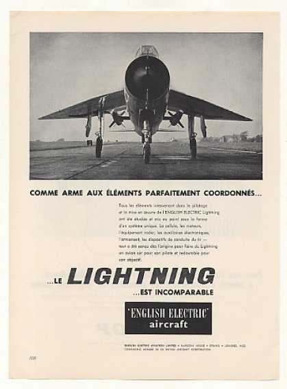 English Electric Lightning Aircraft French (1960)