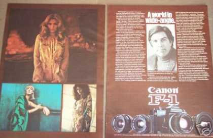 Canon F-1 Camera Photographer Mike Laurance (1976)