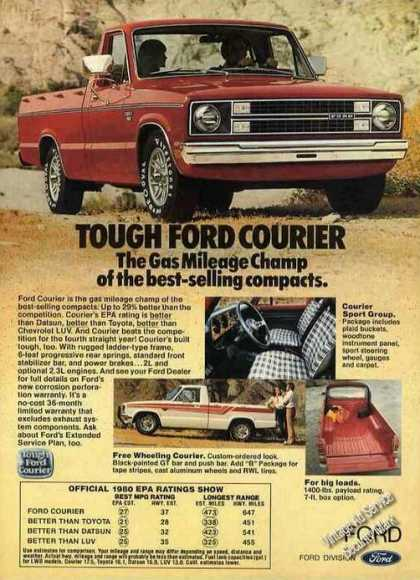 """Tough Ford Courier """"Gas Mileage Champ"""" Truck (1980)"""