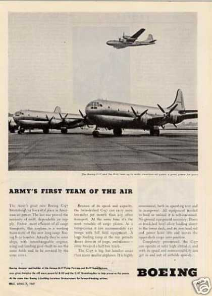 Boeing C-97 and B-50 Aircraft (1947)