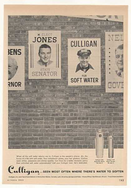 Culligan Water Softener Election Peoples Choice (1960)