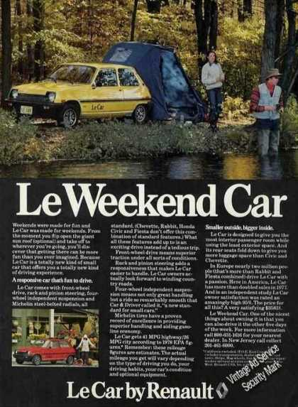 """Renault """"Le Weekend Car"""" Camping By Stream (1978)"""