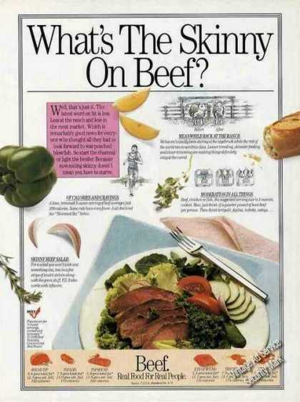 """Beef """"Real Food for Real People"""" Rare (1989)"""