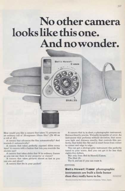 Bell & Howell Canon Unique Dial35 Camera (1965)