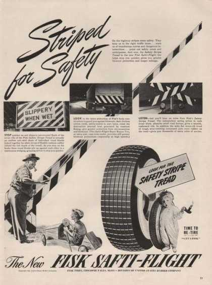 Striped for Safety Fisk Car Tires (1941)