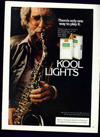 Cool Saxophone Player In Kool Lights Cigarettes (1982)