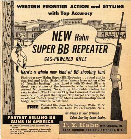 Hahn's New Super BB Repeater Gas-Powered Rifle (1959)
