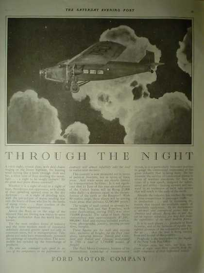 Ford Motor Company Through the Night Airplane theme (1928)