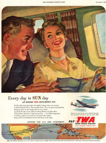 Trans World Airlines – Every day is Sun day (1952)