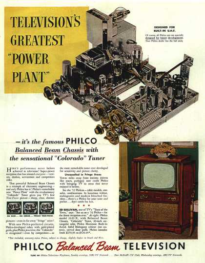 """Philco's Television – TELEVISION'S GREATEST """"POWER PLANT"""" (1951)"""