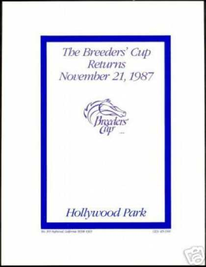 Horse Racing Breeder's Cup Hollywood Park (1987)