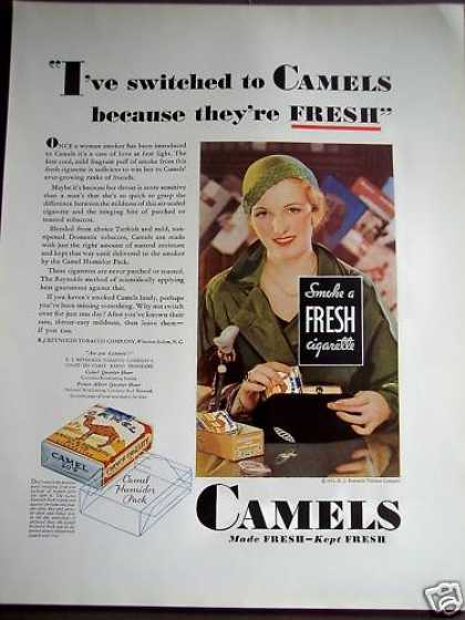 Woman Switches To Camels Cigarettes (1932)