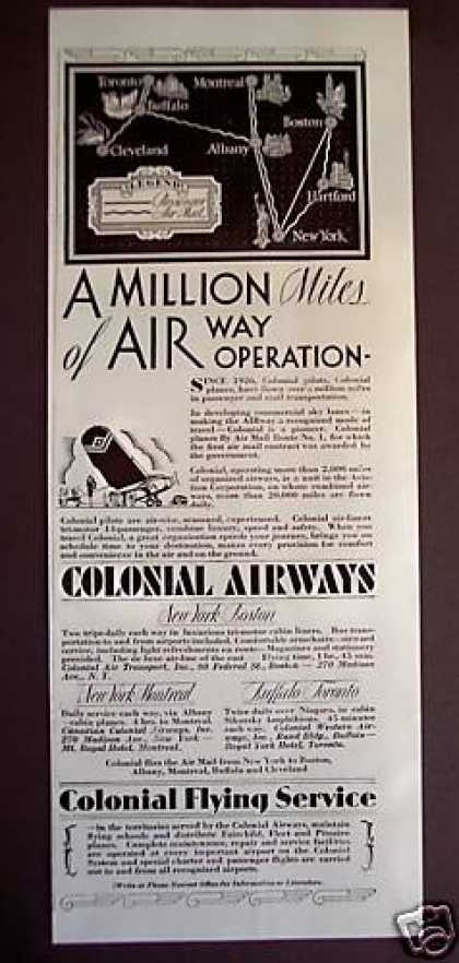 Colonial Airways Airline Flying Service (1929)