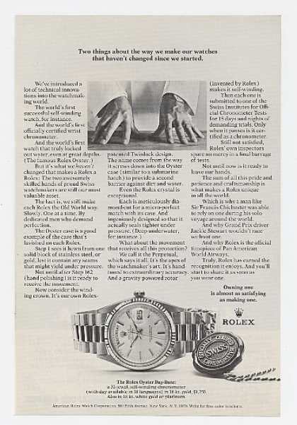 Rolex Oyster Day Date Watch (1971)