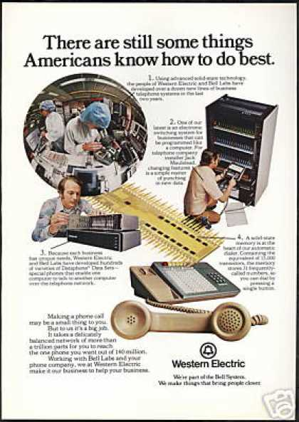 Western Electric Bell Labs Telephone American (1975)