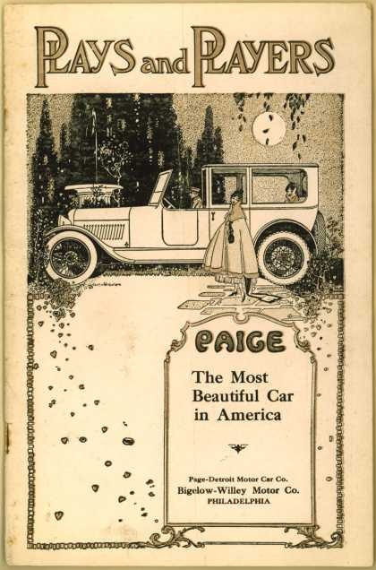 Bigelow-Willey Motor Co.'s Paige, the Most Beautiful Car in America – Plays and Players (1917)
