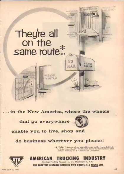 American Trucking Industry – The same route – Sold (1958)