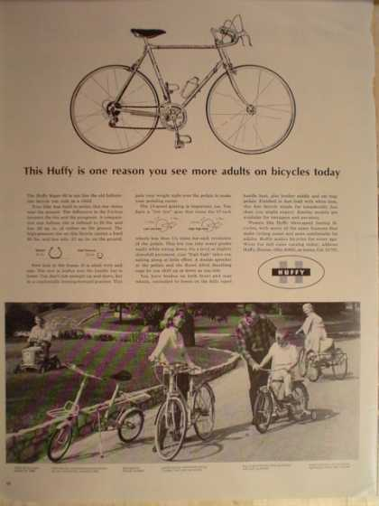 Huffy Bicycles mens, womens, childrens (1965)