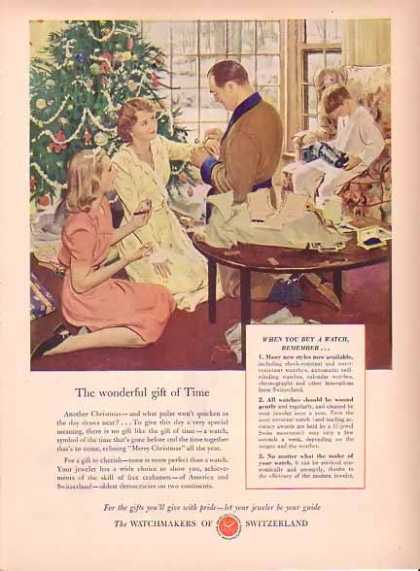 Swiss Federation of Watch Manufactures Christmas – Gift of Time (1949)