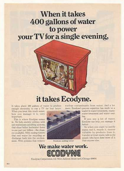 '74 Ecodyne Cooling Tower 400 Gallons Water Power TV (1974)