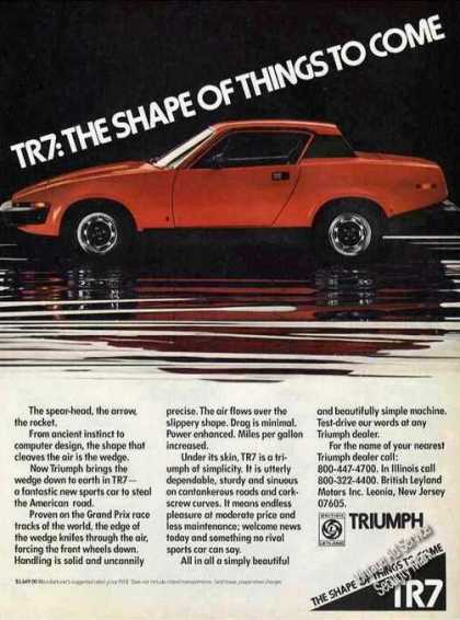 """Triumph Tr7 """"The Shape of Things To Come"""" (1976)"""
