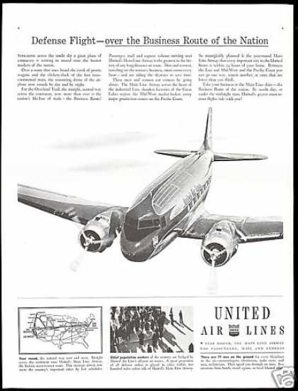 United Airlines Main Line Airway (1941)