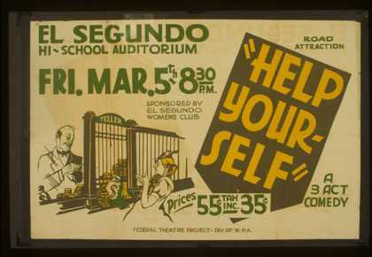 """""""Help your-self"""" – A 3 act comedy. (1937)"""
